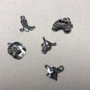 Jewelry - Sterling Silver Charms Western Theme weigh 9.86 gr